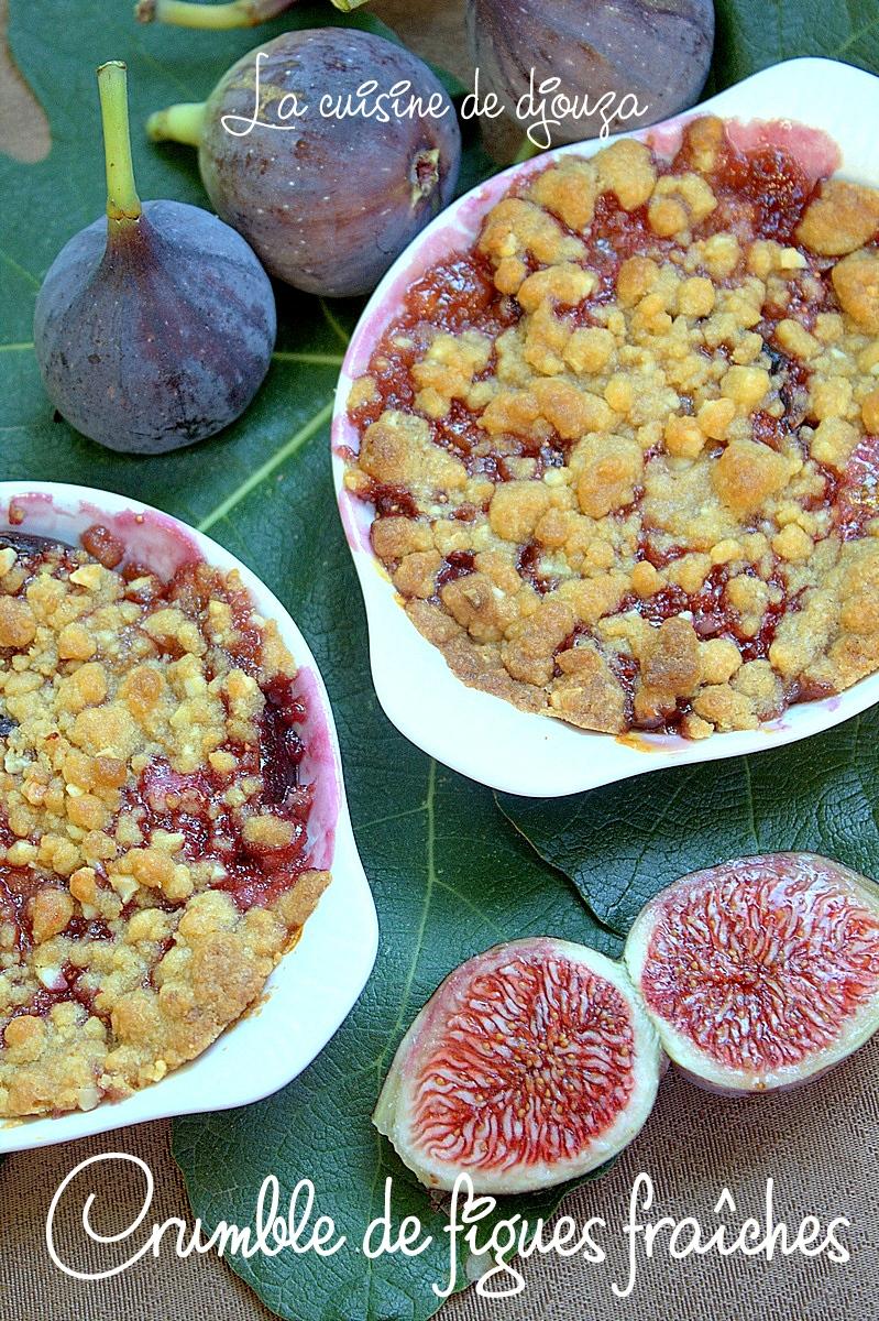 Crumble de figues fraîches