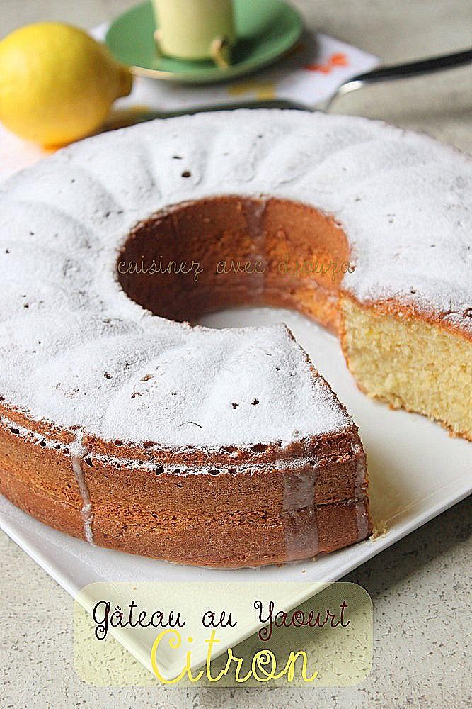 gateau au yaourt citron recettes faciles recettes rapides de djouza