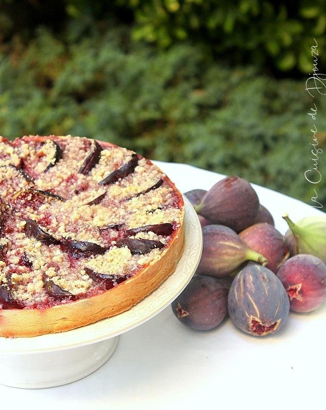 Tarte crumble figues noix amande