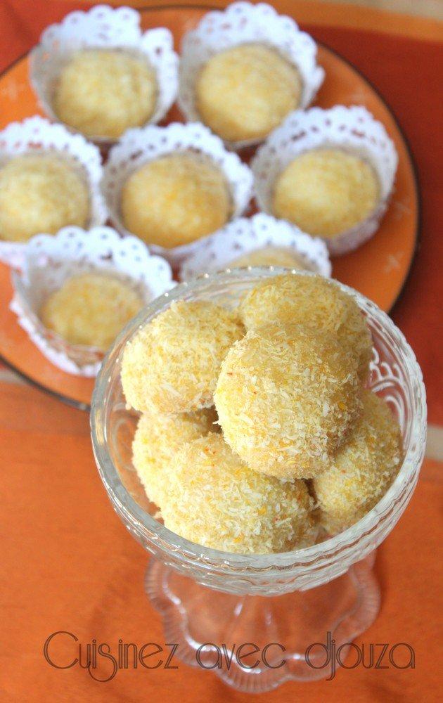 Petit gateau noix de coco citron