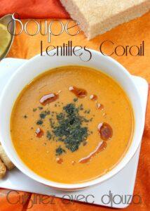 Recette soupe de lentilles corail