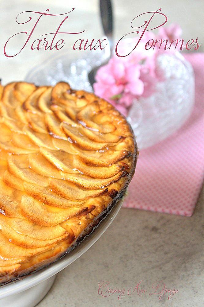 Tarte fine aux pommes sur pate feuilletée