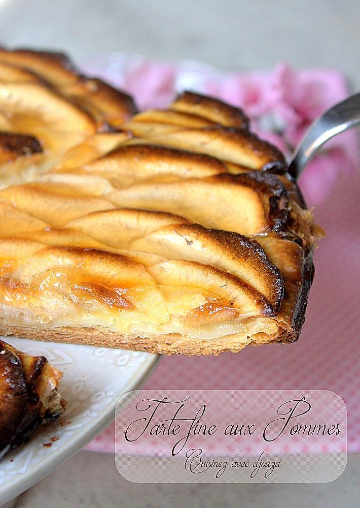 tarte fine aux pommes pate feuillet e recettes faciles recettes rapides de djouza. Black Bedroom Furniture Sets. Home Design Ideas