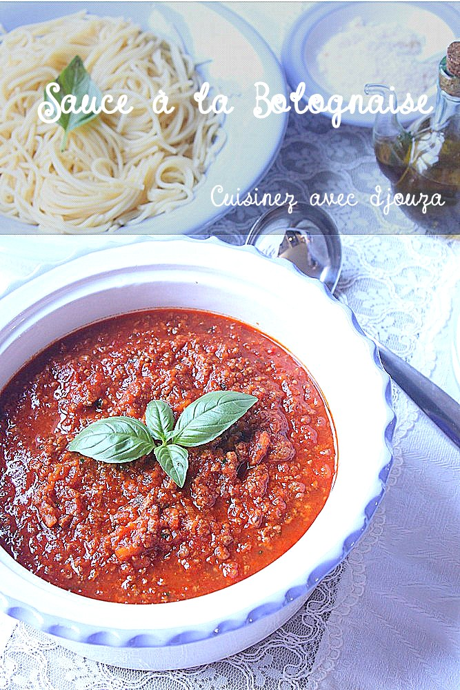Sauce bolognaise recette facile recettes faciles recettes rapides de djouza - Cuisine orientale facile ...
