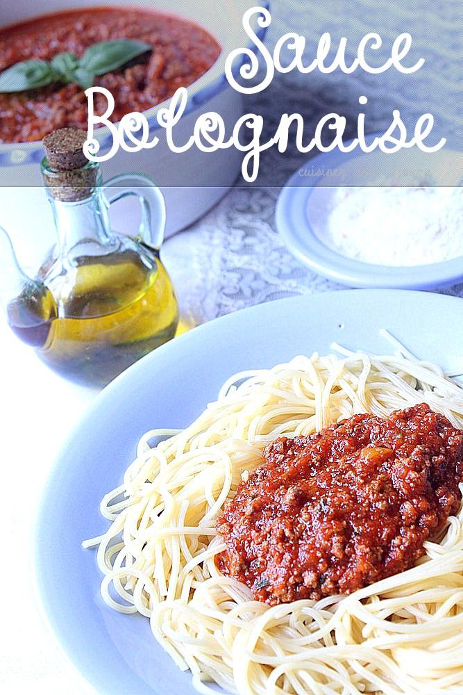 la sauce a la bolognaise maison facile