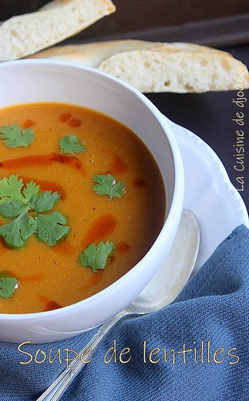 Soupe ou velouté de lentilles corail turque