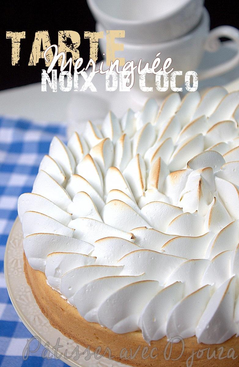 Tarte à la noix de coco meringuée italienne