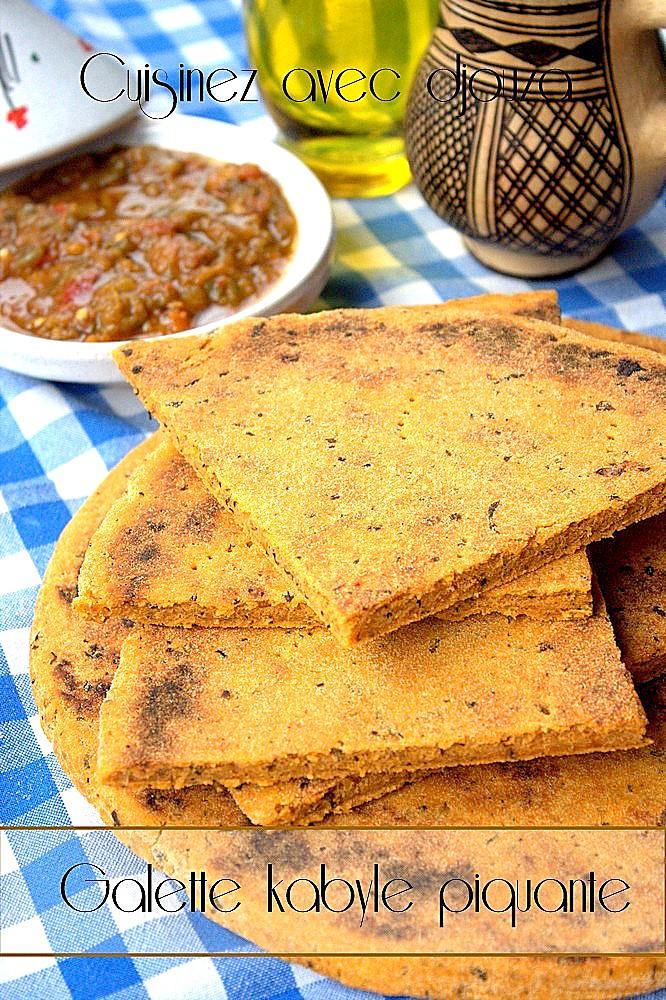 Galette ou kesra kabyle sauce piquante tomate menthe