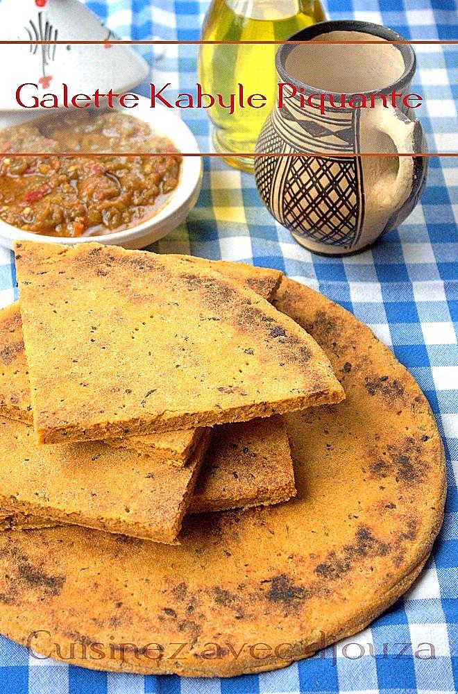 kesra kabyle à la sauce tomate piquante