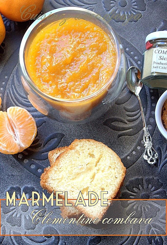 Confiture ou marmelade de clementine au combava