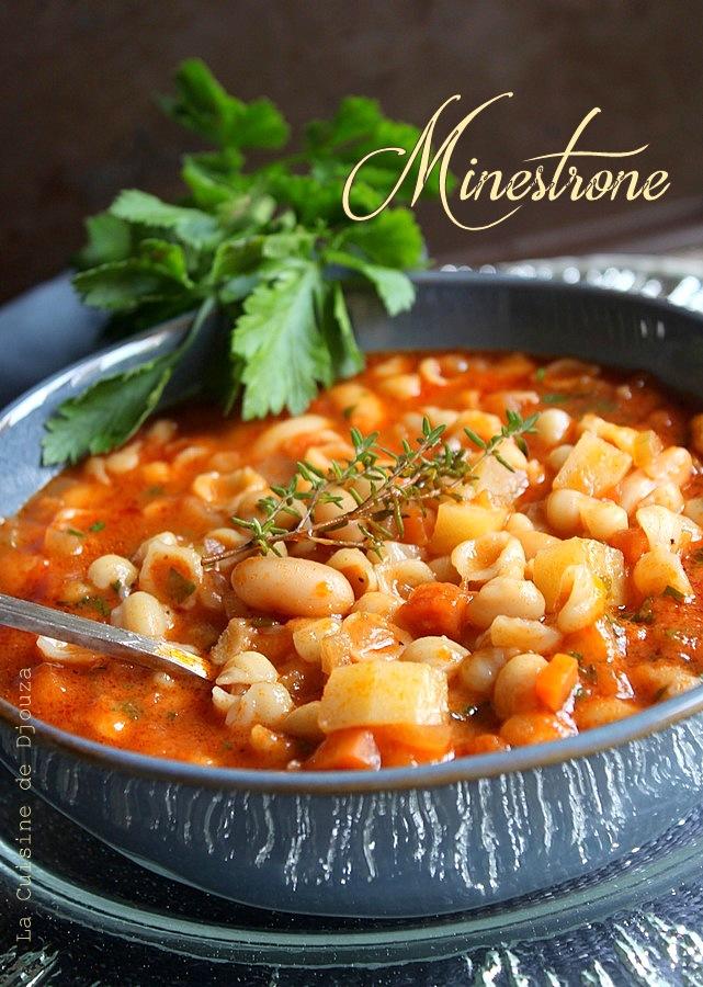 Minestrone Soupe De Pates Facile La Cuisine De Djouza