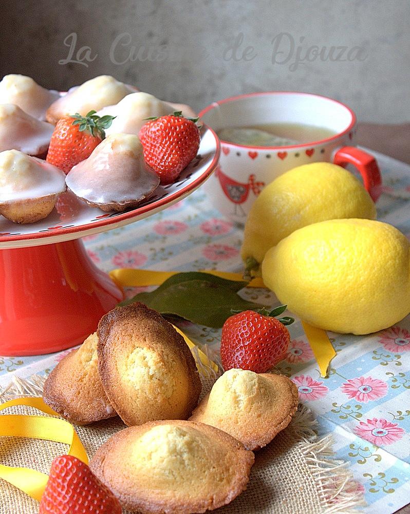 Madeleines au citron réussies avec une belle bosse