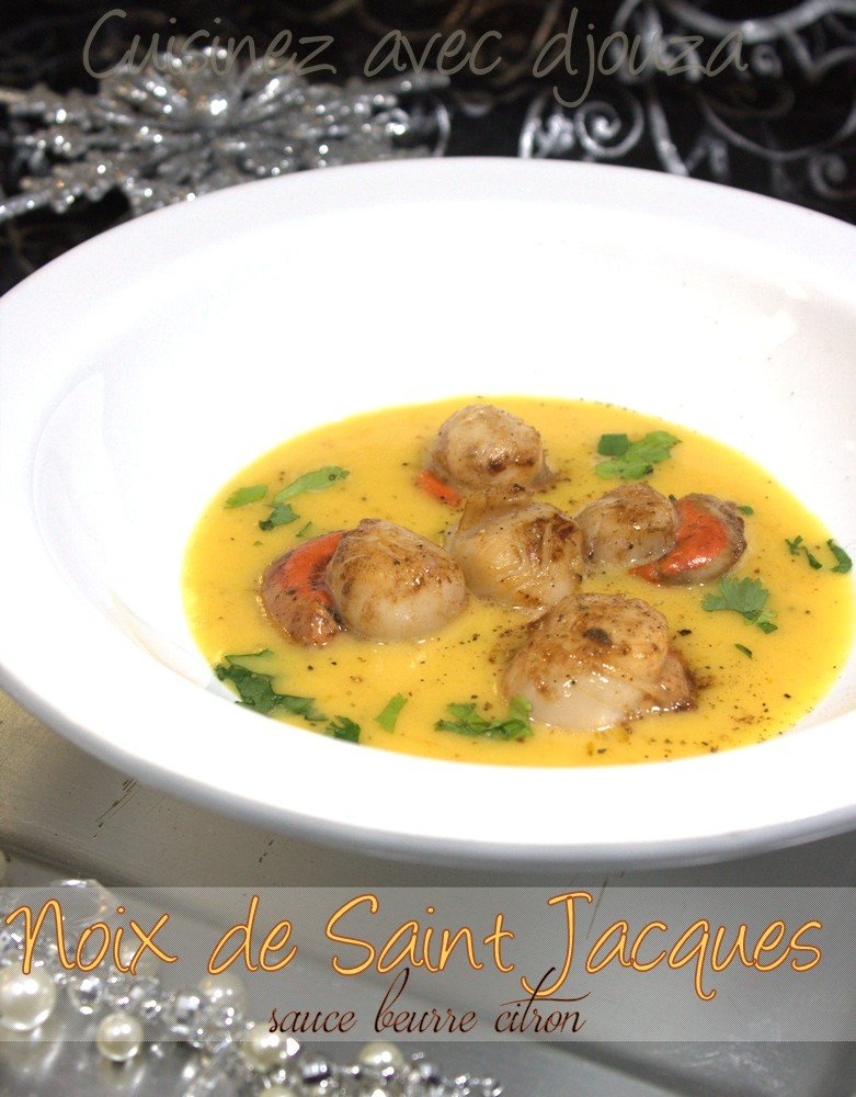 noix de saint jacques sauce au citron beurre blanc recettes faciles recettes rapides de djouza. Black Bedroom Furniture Sets. Home Design Ideas