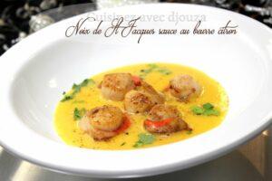 Recette noix de st jacques sauce beurre blanc citron