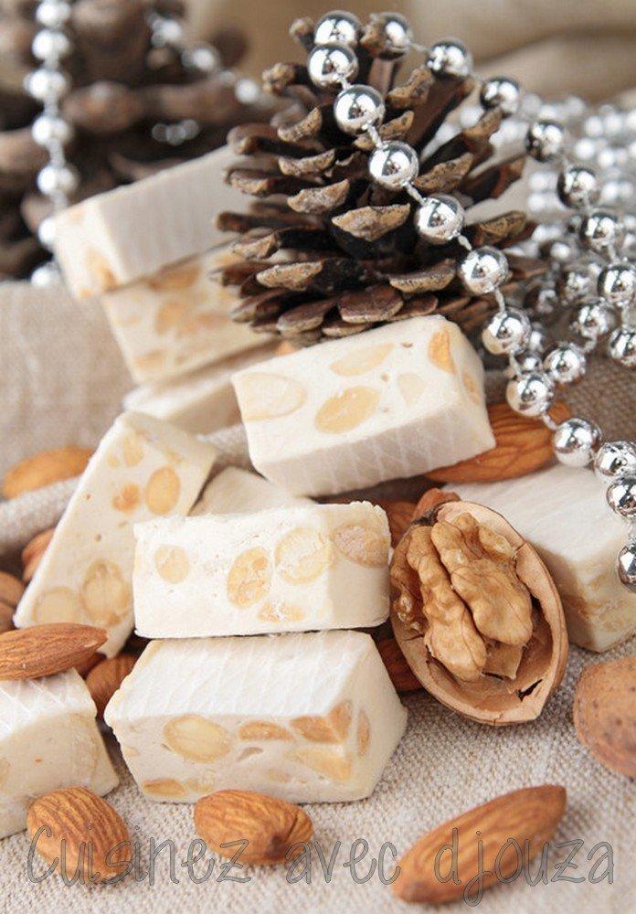 Nougat blanc aux fruits secs et miel