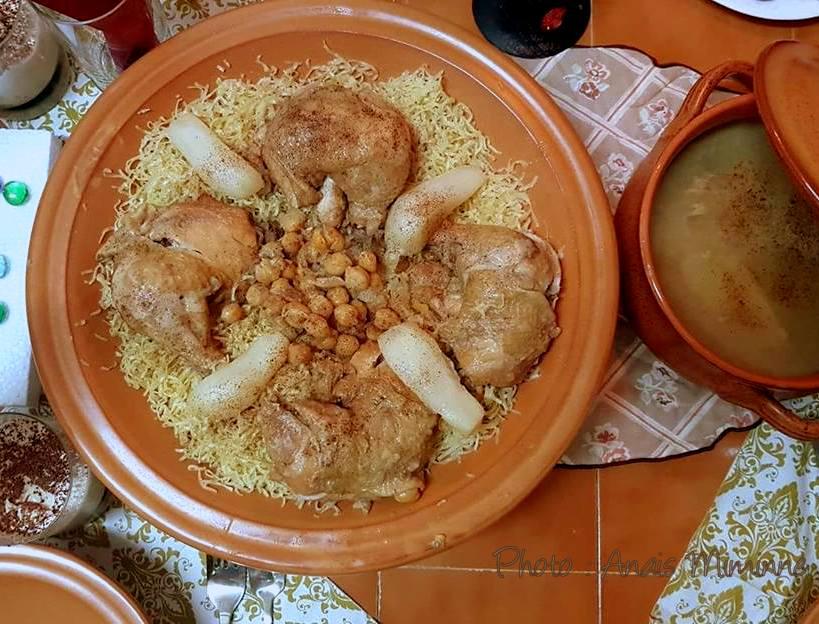 Rechta algéroise sauce blanche