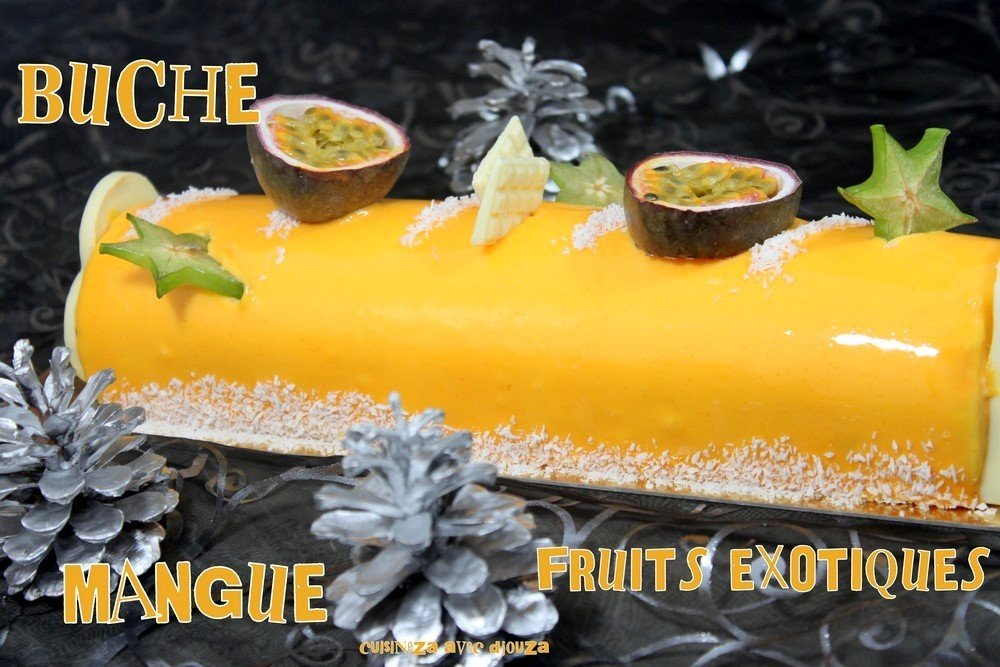 Buche de noel mousse mangue fruits exotiques