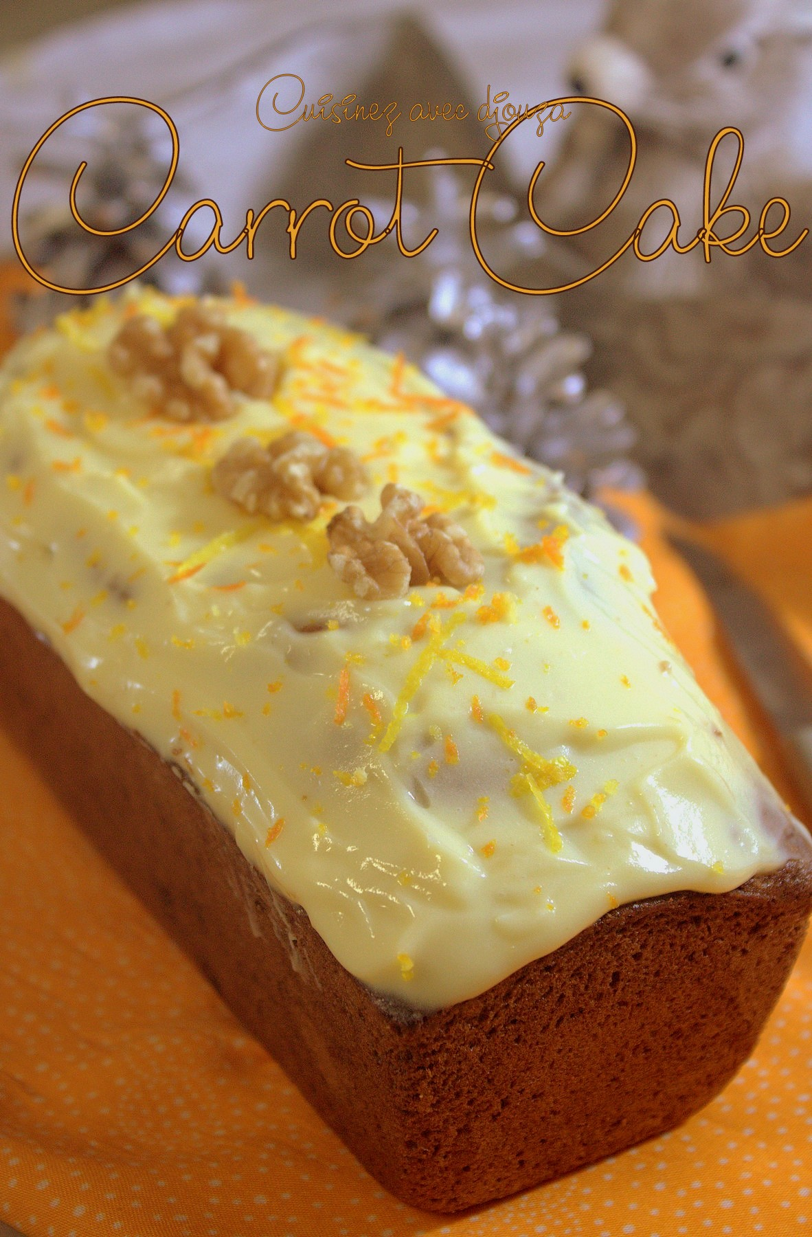 le carrot cake gateau aux carottes facile recettes faciles recettes rapides de djouza. Black Bedroom Furniture Sets. Home Design Ideas