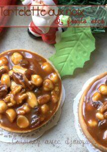 Recette tartelette aux noix et fruits secs et caramel beurre salé