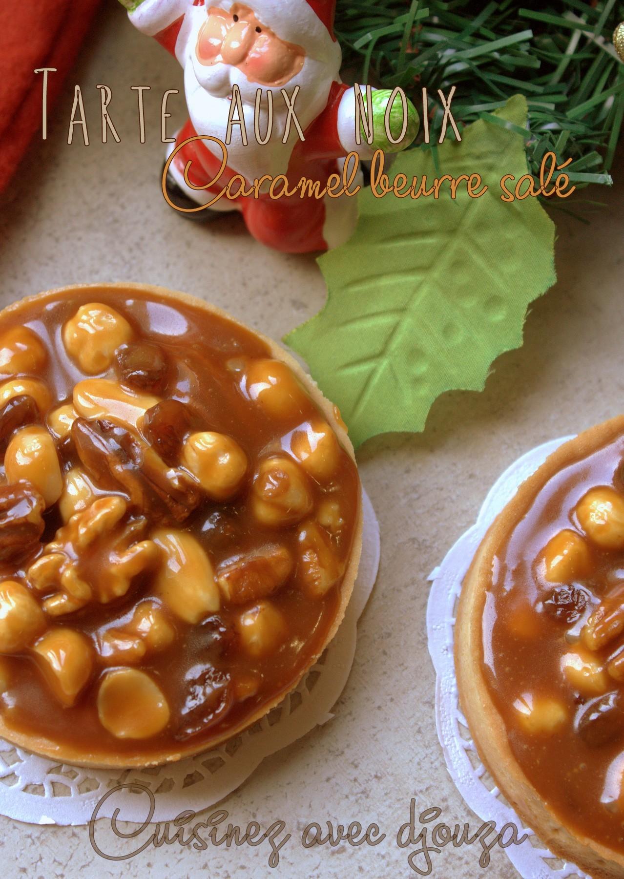 tarte aux noix caramel beurre salé