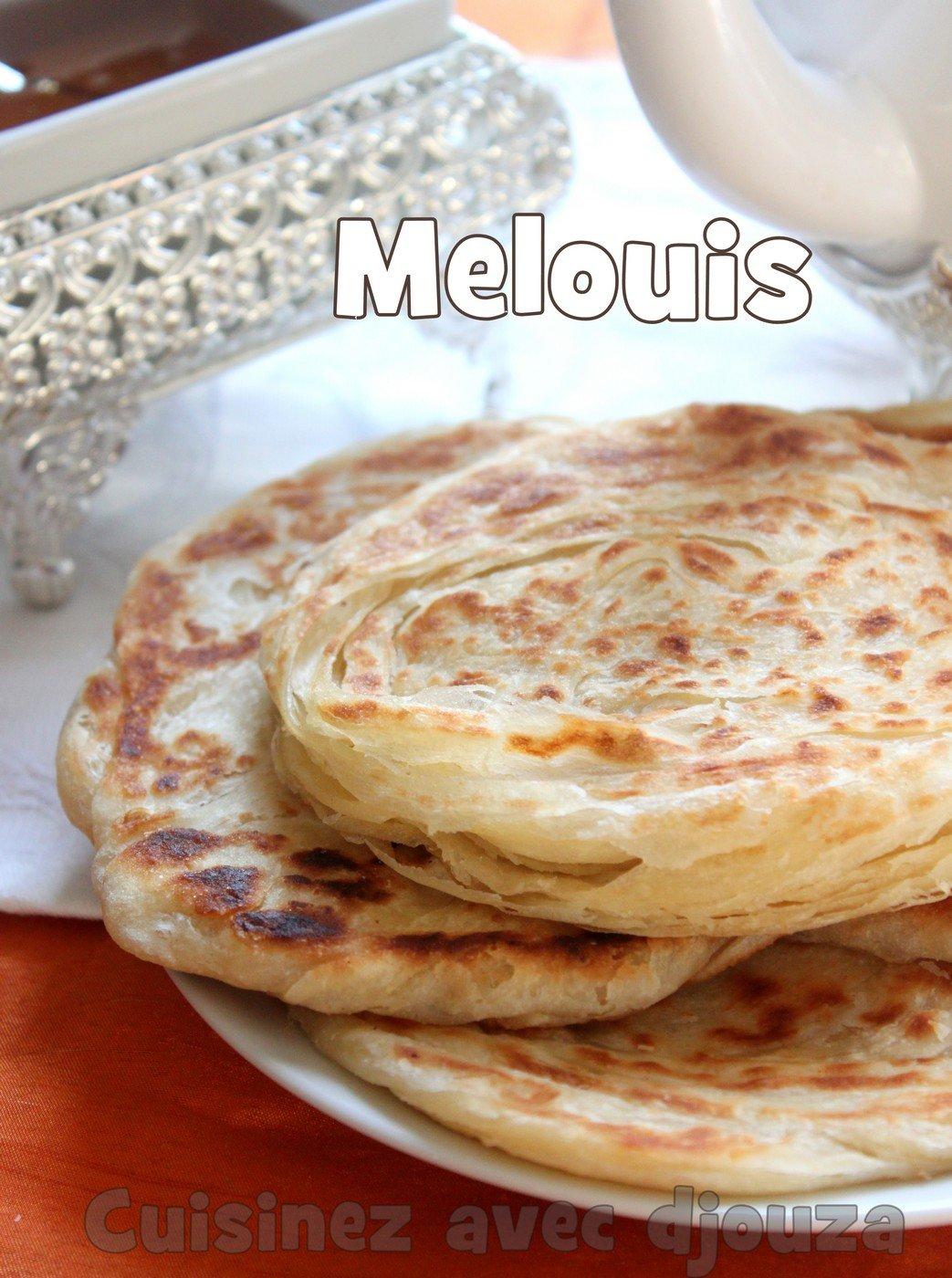 Recette meloui, crêpes marocaines feuilletées