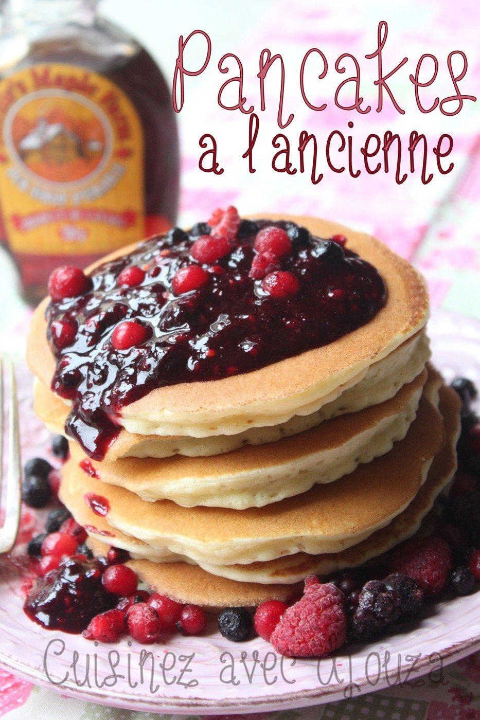 délicieuses pancakes aux fruits rouges