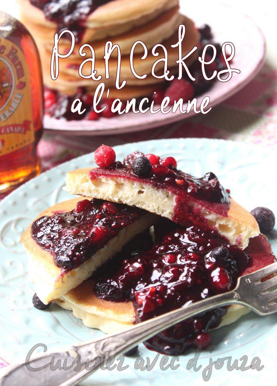 Pancake aux fruits rouges épaisses et faciles