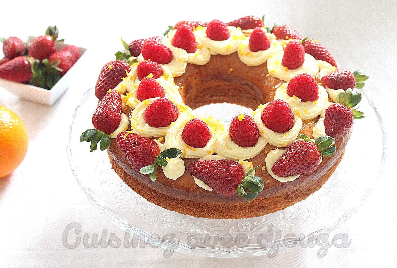 dessert fraise et orange
