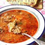 Chorba (au poulet et blé concassé)