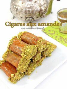 Recette cigares aux amandes