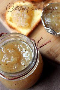 Recette confiture de poires vanille et graines de pavot