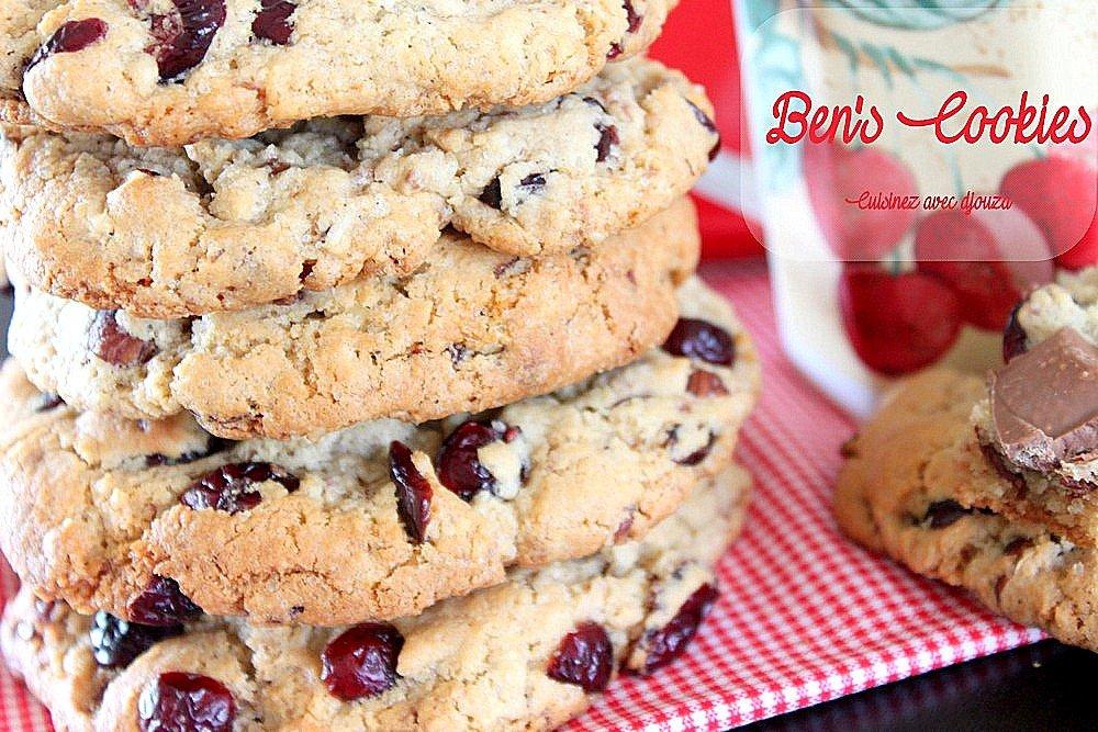 Cookies anglais les ben's cookies