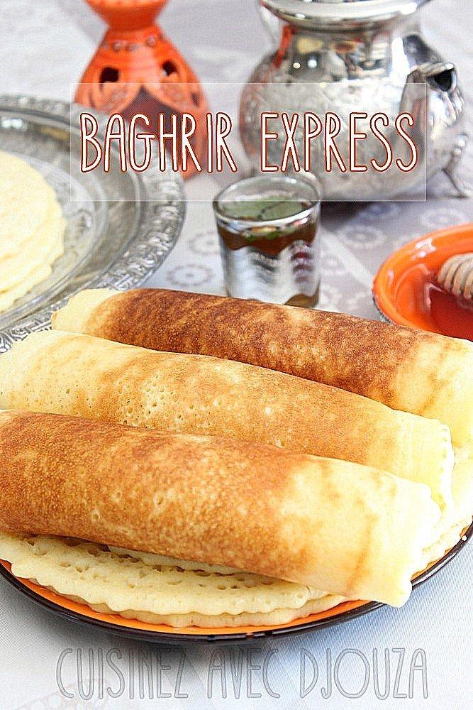 Bahgrir express recette facile au blender