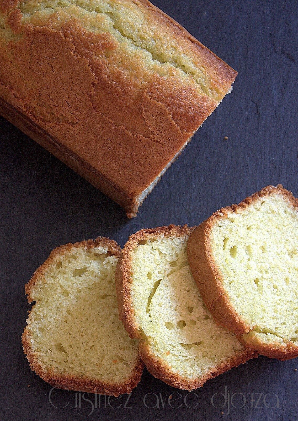 Gâteau au yogourt au flan vanille