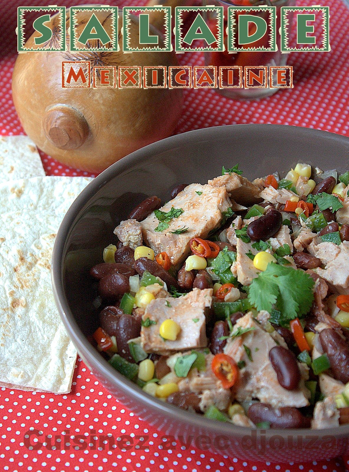 Salade aux haricots rouges mexicains
