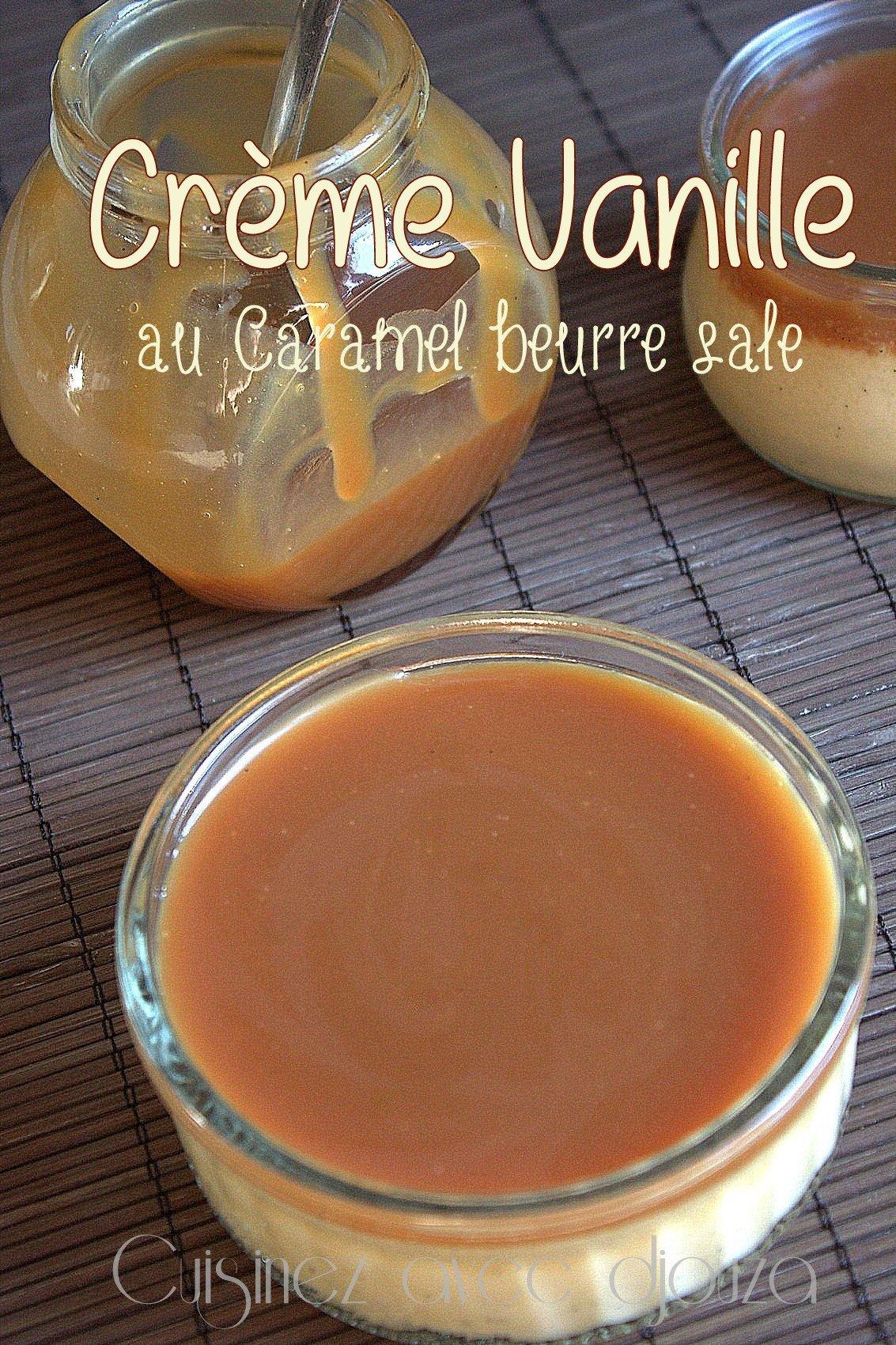 Crème au oeufs et au caramel beurre salé