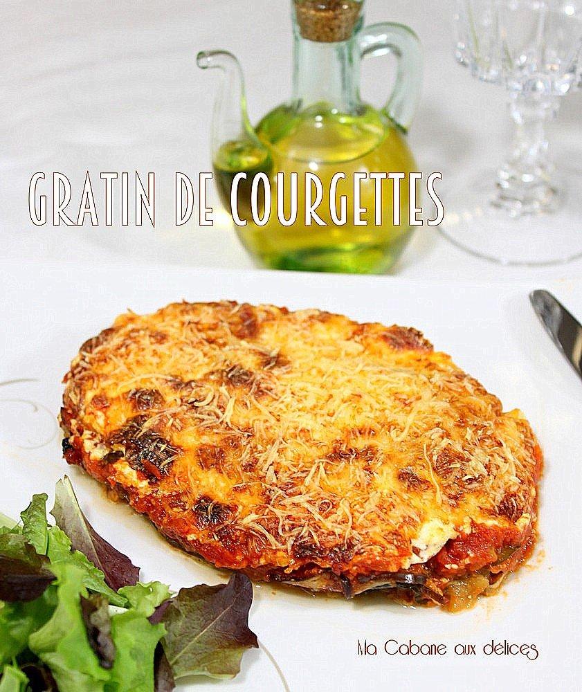 Gratin-de-courgettes à la mozzarella