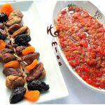 Salade de poivrons et tomates grille