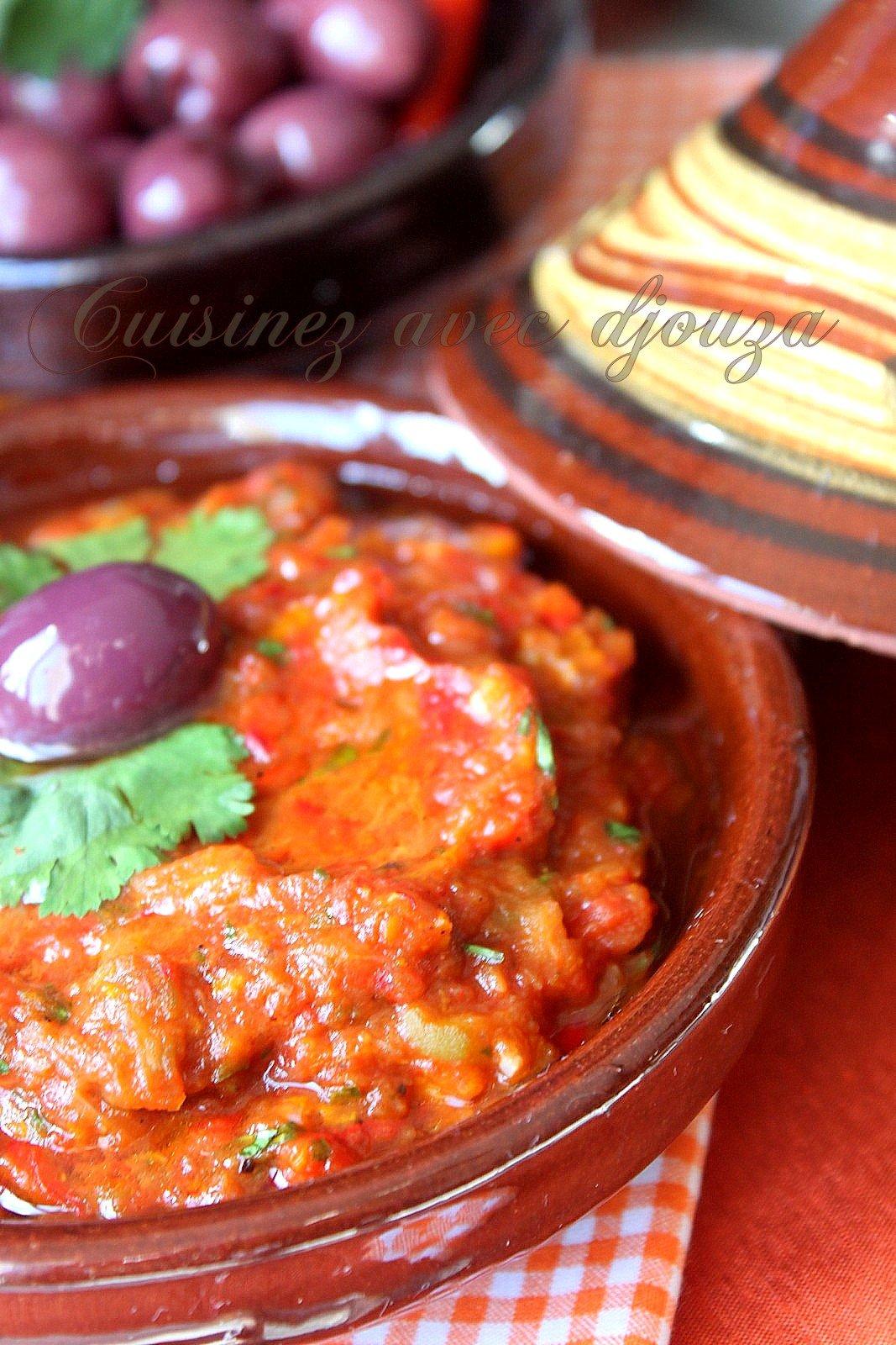 zaalouk d 39 aubergines recette marocaine facile recettes faciles recettes rapides de djouza. Black Bedroom Furniture Sets. Home Design Ideas
