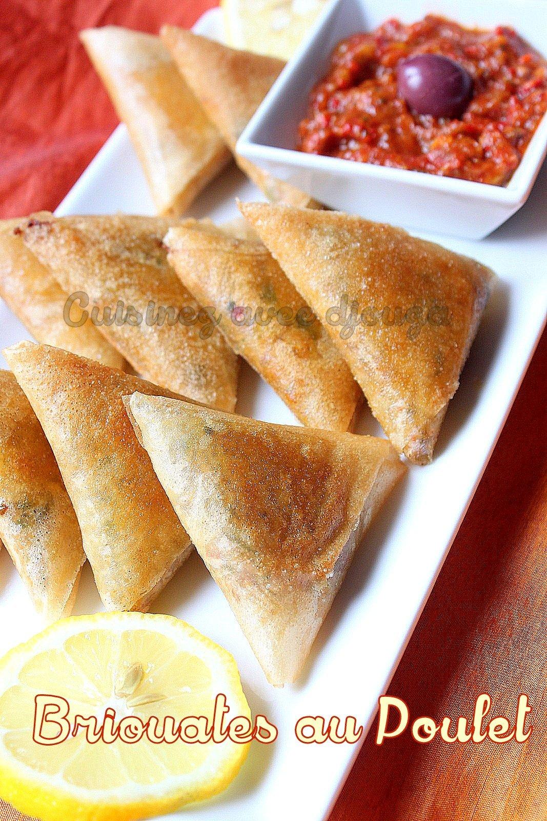 Briouates spécial ramadan au poulet
