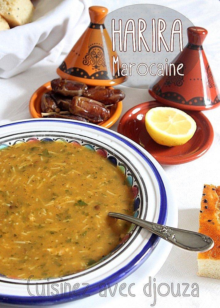 Soupe harira marocaine recette traditionnelle recettes - Recette cuisine thailandaise traditionnelle ...