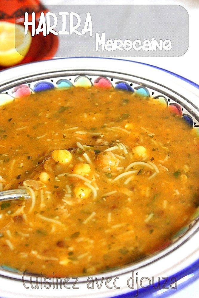 Soupe harira marocaine recette traditionnelle recettes - Recette de cuisine algerienne traditionnelle ...