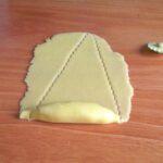 découpez en forme de triangle