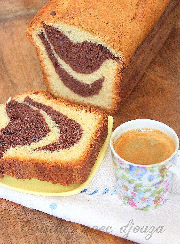Gateau yaourt marbré chocolat