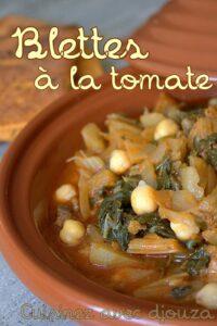 Recette blettes sauce tomate