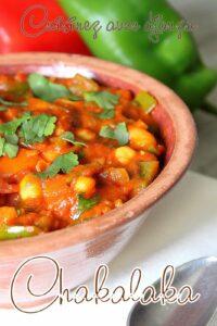 recette végétarienne chakalaka