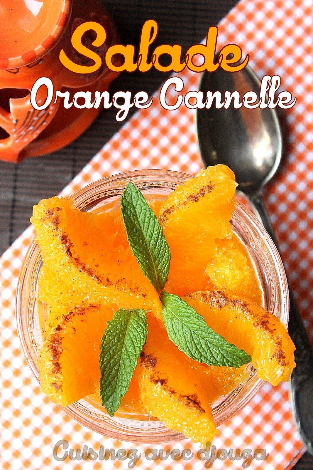 Salade d'oranges marocaine à la cannelle