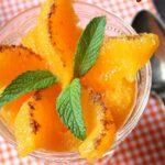Salade d'oranges à la marocaine cannelle menthe