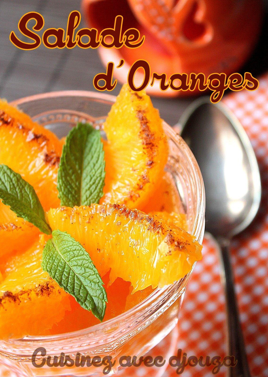 Salade d'oranges à la marocaine cannelle et menthe