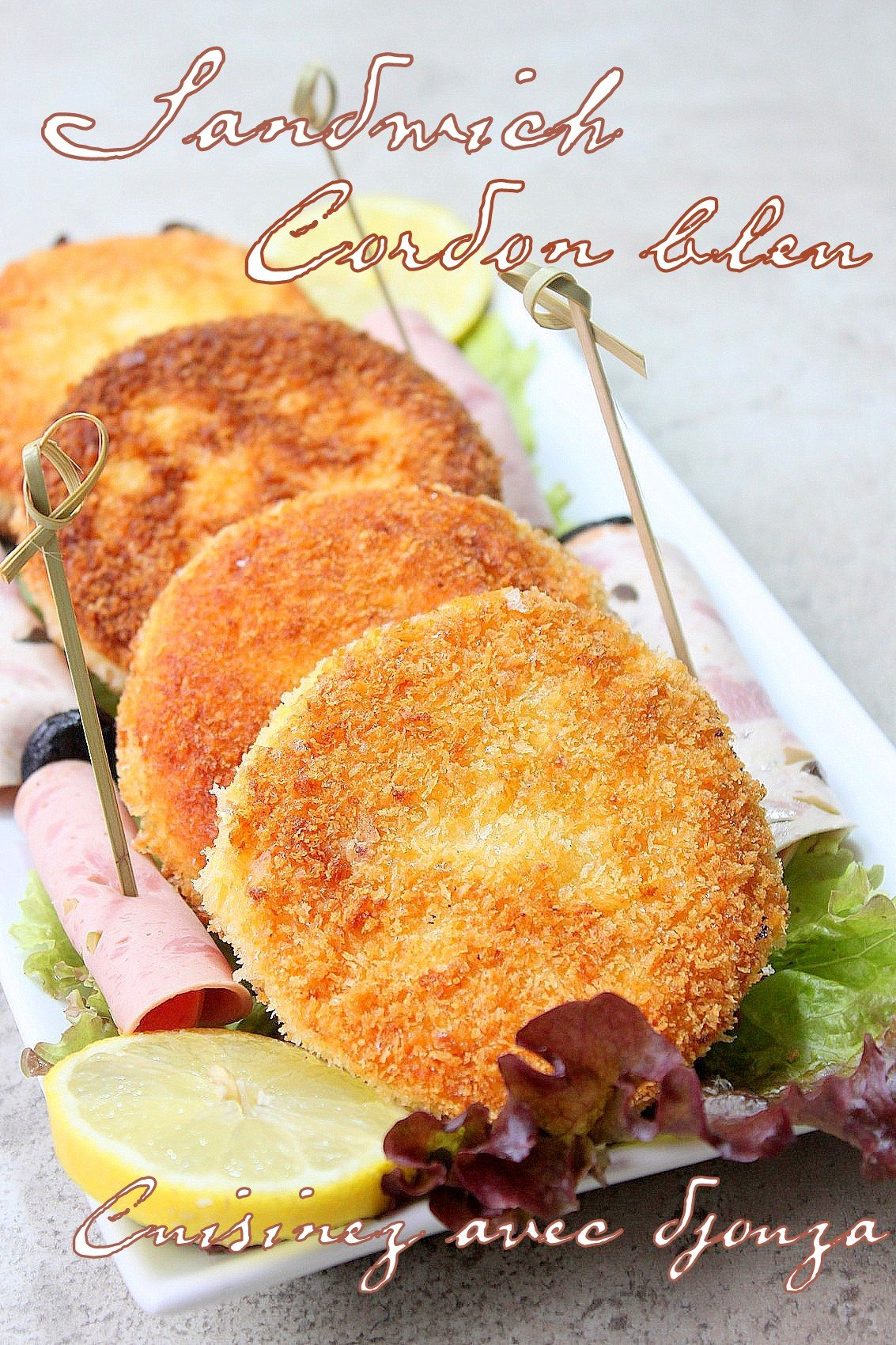 Sandwichs pain de mie pan fa on cordon bleu blogs de cuisine - Recette sandwich pain de mie ...
